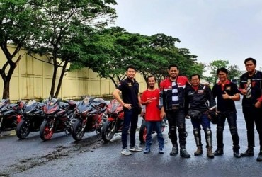 Utamakan Keselamatan, HCOI  Medan Pilih Sunmori di Track Basah Sirkuit Dispora