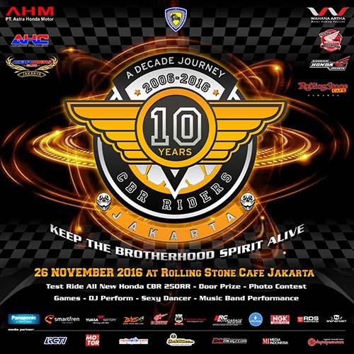 A Decade of Journey CBR Riders Jakarta, Dokumentasi Sejarah Penggila CBR