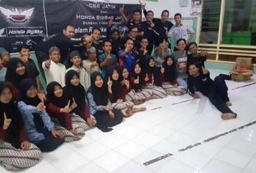 Aksi Baksos Perdana Awal Tahun CBR Jatim di Panti Asuhan Yatim Piatu
