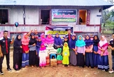 CBR Bukittinggi Berbagi Rejeki di Rumah Yatim & Dhuafa Mande Kanduang