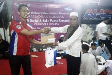 CBR Riders Jakarta Laksanakan Baksos dan Buka Puasa Bersama Anak Yatim Piatu