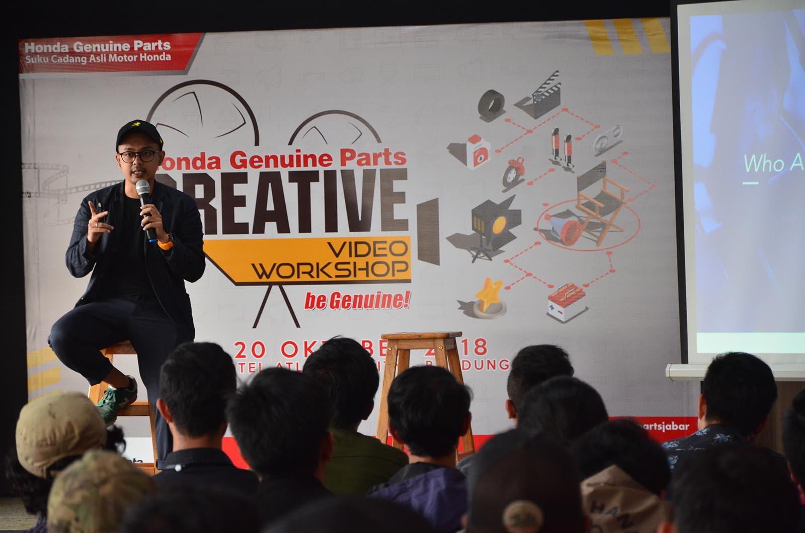 Siap Lahirkan Sineas Muda, Honda Genuine Parts Gelar Workshop Bikin Video Pendek