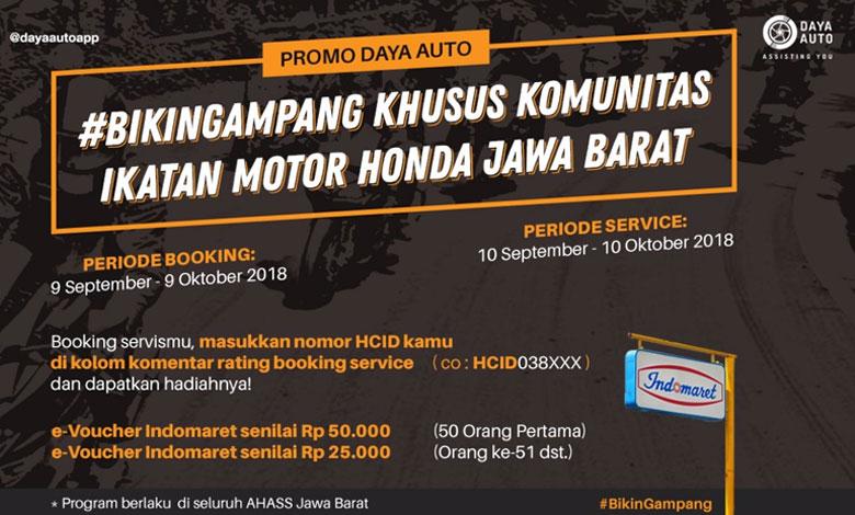 Promo Diler  Honda Jawa Barat, Gratis Voucher Indomaret loh…