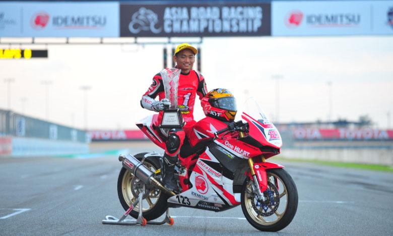 Rheza Dhanica Kunci Juara Asia Road Racing Championship kelas AP250