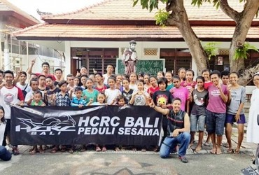 Honda CBR Rider Club (HCRC) Bali Gelar Baksos di Panti Asuhan Sidhi Astu
