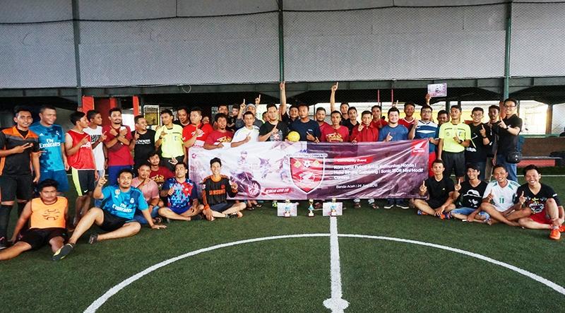 Halal Bihalal Ala Honda Capella Pekanbaru, Ajak Komunitas Tanding Futsal