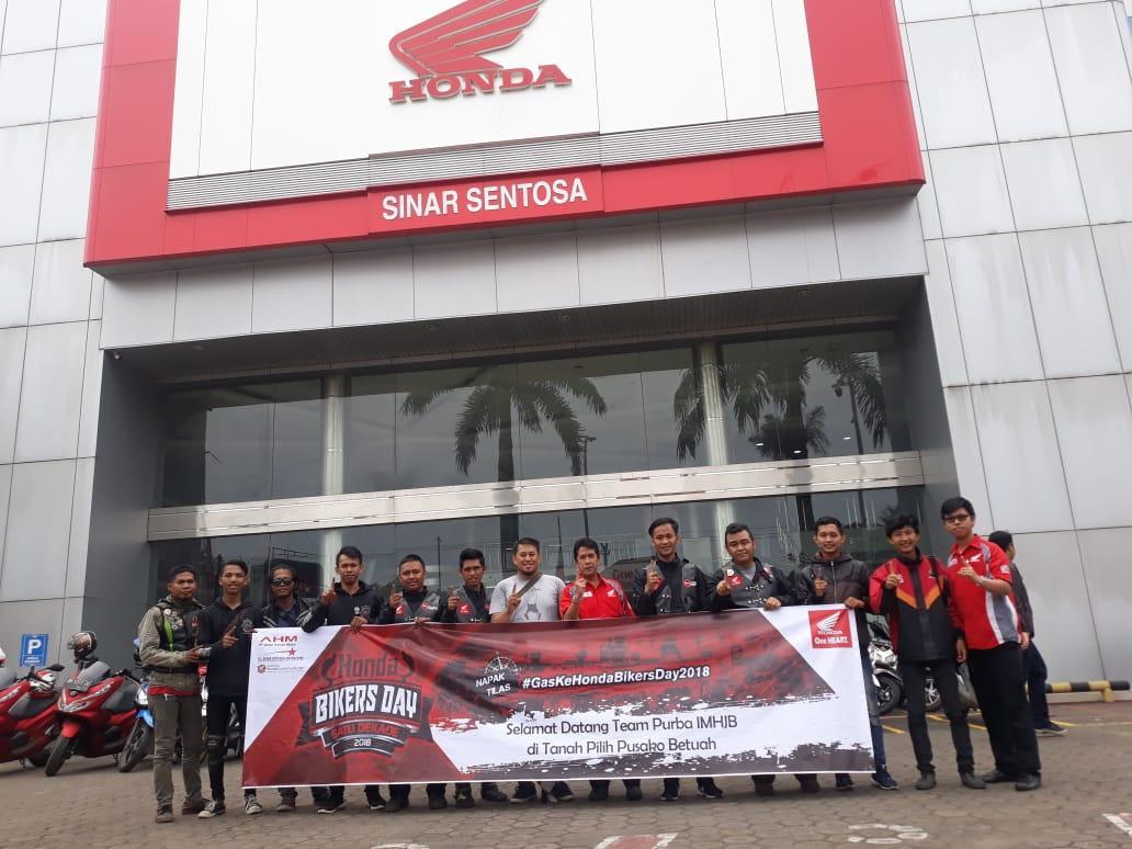 Tim Penyebar Undangan HBD Pangandaran Disambut Diler Honda Sinar Sentosa Jambi