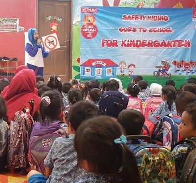 Begini Cara Honda SUMUT Edukasi Safety Riding Anak-anak TK Islam di Deli Serdang