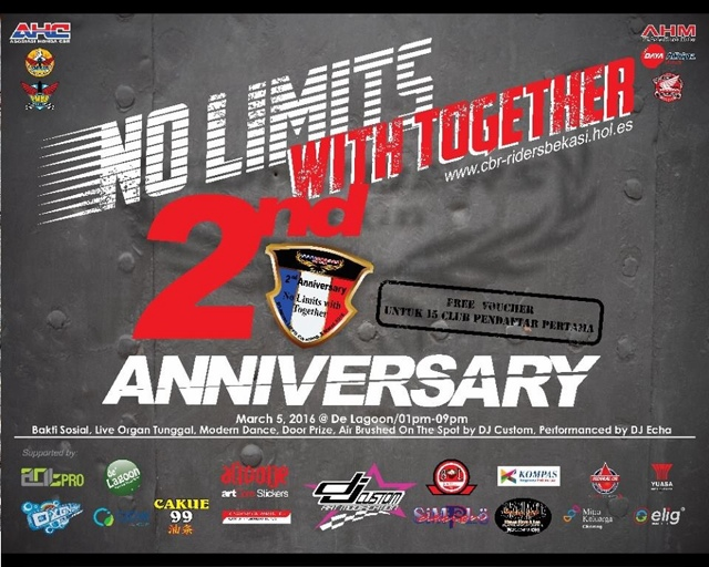 Anniversary Cbr Riders Bekasi ke-2 dihadiri Ribuan Bikers