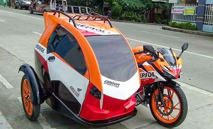 Keren nih Honda CBR150R Dimodifikasi Pakai Sespan